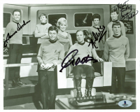"""Star Trek"" 8x10 Photo Signed by (4) with William Shatner, James Doohan, Nichelle Nichols & George Takei (Beckett LOA) at PristineAuction.com"