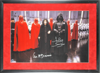 "Ian McDiarmid & David Prowse Signed ""Star Wars"" 20x30 Custom Framed Photo Display Inscribed ""Darth Vader"" (Beckett LOA) at PristineAuction.com"