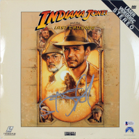 "Steven Spielberg Signed ""Indiana Jones and the Last Crusade"" LaserDisc Cover (Beckett COA) at PristineAuction.com"