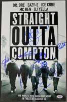 """Straight Outta Compton"" 12x18 Poster Signed by (7) Cast & Band Members with O'Shea Jackson Jr, Jason Mitchell, Aldis Hodge (PSA LOA) at PristineAuction.com"