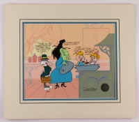 "Chuck Jones Signed LE 1994 ""Which Hazel: Truant Officer"" 20x23 Custom Matted Serigraph Cel (Warner Bros. COA) at PristineAuction.com"