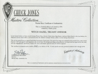 """Chuck Jones Signed LE 1994 """"Which Hazel: Truant Officer"""" 20x23 Custom Matted Serigraph Cel (Warner Bros. COA) at PristineAuction.com"""