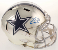 Emmitt Smith Signed Cowboys Full-Size Chrome Speed Helmet (Beckett COA & Prova COA) at PristineAuction.com