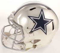Emmitt Smith Signed Cowboys Full-Size Chrome Speed Helmet (Beckett COA & Prova COA) at PristineAuction.com