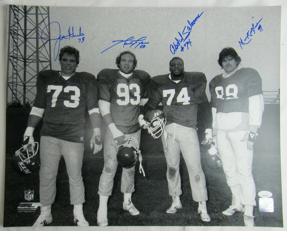 "Jets ""Sack Exchange"" 16x20 Photo Team-Signed by (4) with Marty Lyons, Mark Gastineau, Joe Klecko & Abdul Salaam (JSA Hologram) at PristineAuction.com"