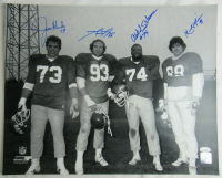 "Jets ""Sack Exchange"" 16x20 Photo Team-Signed by (4) with Marty Lyons, Mark Gastineau, Joe Klecko & Abdul Salaam (JSA Hologram) at PristineAuction.com"