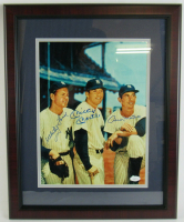 Mickey Mantle, Whitey Ford & Billy Martin Signed Yankees 16x20 Framed Photo Display (JSA Hologram) at PristineAuction.com