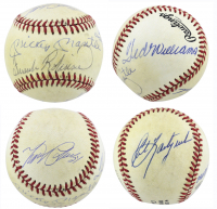 Triple Crown OAL Baseball Signed by (5) with Mickey Mantle, Ted Williams, Carl Yastrzemski, Frank Robinson & Miguel Cabrera (Beckett LOA & PSA LOA) at PristineAuction.com