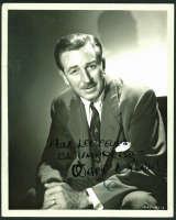 Walt Disney Signed 8x10 Photo with Inscription (PSA LOA) at PristineAuction.com