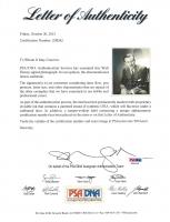 Walt Disney Signed 8x10 Photo with Inscription (PSA LOA) at PristineAuction.com