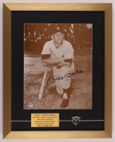 Mickey Mantle Signed Yankees 17x21 Custom Framed Photo Display with 1962 World Series Champions Pin (PSA LOA) at PristineAuction.com