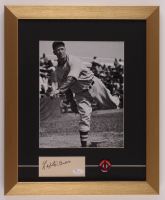 Lefty Grove Signed Red Sox 14x17 Custom Framed Cut Display & 1940s Red Sox Pin Back (JSA Hologram) at PristineAuction.com