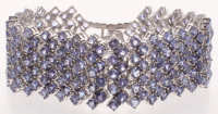 Sterling Silver Ladies Tanzanite Bracelet (GAL Appraisal) at PristineAuction.com
