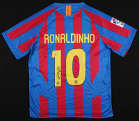 "Ronaldinho Signed Barcelona Jersey Inscribed ""Rio"" (Beckett COA) at PristineAuction.com"
