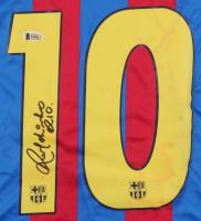 "Ronaldinho Signed Barcelona Jersey Inscribed ""Rio"" (Beckett COA) at PristineAuction.com"