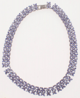Sterling Silver Ladies Tanzanite Necklace (GAL Appraisal) at PristineAuction.com