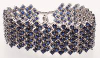 30ct Silver Ladies Blue Sapphire Bracelet (GAL Appraisal) at PristineAuction.com
