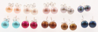 Lot of (10) Multi-Colored Fresh Water Pearl Earrings at PristineAuction.com