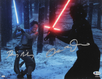 """Adam Driver & Daisy Ridley Signed """"Star Wars: The Force Awakens"""" 11x14 Photo (Beckett COA) at PristineAuction.com"""