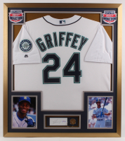 Ken Griffey Jr. Signed Mariners 32x36 Custom Framed Cut Display with Gold Coin (PSA COA) at PristineAuction.com