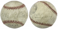 Babe Ruth & Lou Gehrig Signed Professional Model Baseball (PSA LOA) at PristineAuction.com