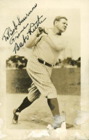 Babe Ruth Signed Yankees 3.75x5.75 Photo (PSA LOA) at PristineAuction.com