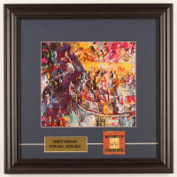 "LeRoy Neiman ""Toots Short Bar: New York City"" 15.5x15.5 Custom Framed Print Display with Vintage Toots Shor Matchbox at PristineAuction.com"