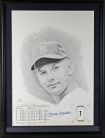 Mickey Mantle Signed Yankees 20x26 Custom Framed LE Lithograph Display (PSA LOA) at PristineAuction.com