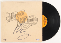 "Neil Young Signed ""Harvest"" Vinyl Record Album Cover (PSA COA) at PristineAuction.com"