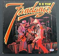 "Billy Gibbons, Frank Beard, & Dusty Hill Signed ZZ Top ""Fandango!"" Vinyl Album (PSA COA) at PristineAuction.com"
