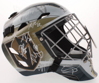 Golden Knights Full-Size Goalie Mask Team-Signed by (19) with William Carrier, Mark Stone, Alex Tuch, Shea Theodore (JSA ALOA) at PristineAuction.com