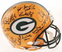 Super Bowl 31 Packers Full-Size Authentic On-Field Helmet Signed by (23) with Brett Favre, Ron Wolf, Antonio Freeman, Chris Jacke, Santana Dotson (Radtke COA) at PristineAuction.com