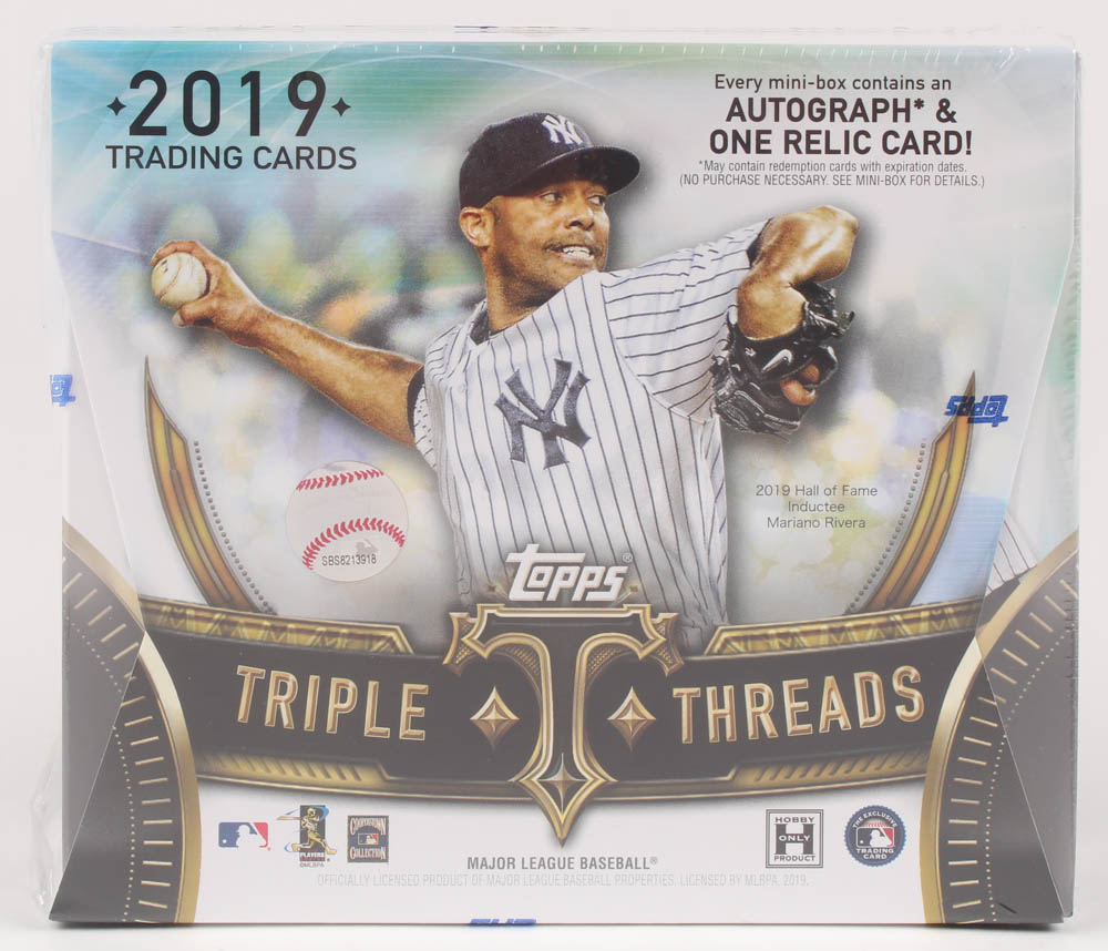 2019 Topps Triple Threads Baseball Hobby Box - Factory Sealed at PristineAuction.com