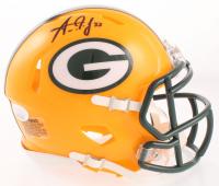 Aaron Jones Signed Packers Speed Mini Helmet (JSA COA) at PristineAuction.com
