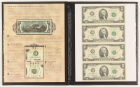 Uncut Sheet Booklet Display of (4) 2003-A $2 Two-Dollar U.S. Federal Reserve Notes at PristineAuction.com