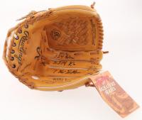 "Nolan Ryan Signed Rawlings Baseball Glove Inscribed ""324 Wins"", ""5,714 K's"" & ""7 No-Hitters"" (PSA COA) at PristineAuction.com"