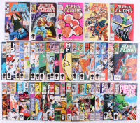 "Lot of (41) 1983 ""Alpha Flight"" 1st Series Marvel Comic Books at PristineAuction.com"