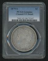 1879-S Morgan Silver Dollar (PCGS Genuine-VF Detail) at PristineAuction.com