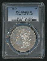 1884-S Morgan Silver Dollar (PCGS Genuine-VF Detail) at PristineAuction.com