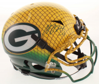 Davante Adams Signed Packers Full-Size Authentic On-Field Hydro-Dipped Vengeance Helmet (JSA COA) at PristineAuction.com