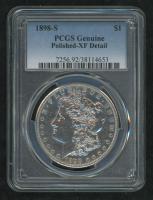 1898-S Morgan Silver Dollar (PCGS Genuine-XF Detail) at PristineAuction.com