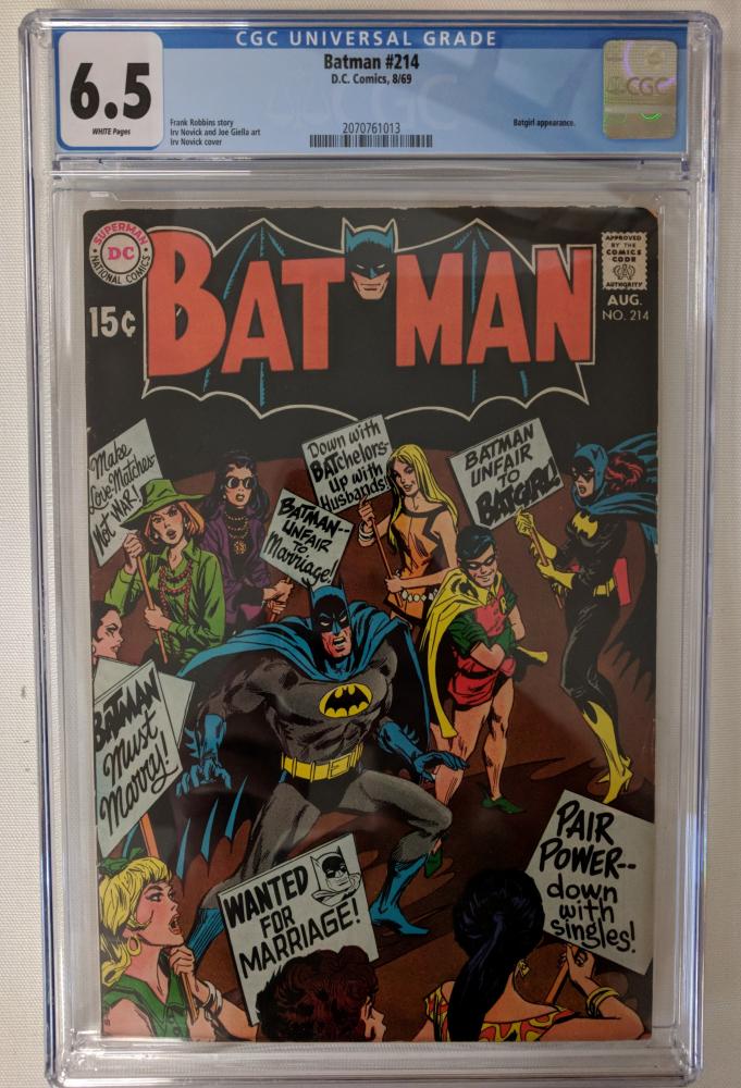 "1969 ""Batman"" Issue #214 DC Comic Book (CGC 6.5) at PristineAuction.com"