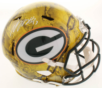 Davante Adams Signed Packers Full-Size Hydro-Dipped Speed Helmet (JSA COA) at PristineAuction.com
