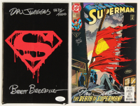 "Lot of (2) ""Superman"" DC Comic Books Signed by Dan Jurgens & Brett Breeding (JSA COA) at PristineAuction.com"