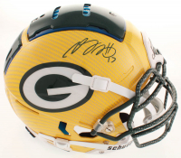 Davante Adams Signed Packers Full-Size Authentic On-Field Hydro-Dipped F7 Helmet (JSA COA) at PristineAuction.com