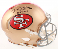 "Jerry Rice Signed 49ers Full-Size Authentic On-Field Speed Helmet Inscribed ""HOF 2010"" (Beckett COA) at PristineAuction.com"