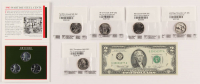 Lot of (9) Currency Collections with (1) 1976 A $2 Two-Dollar Green Seal U.S. Federal Reserve Note Bill, (3) 1943 Wartime Steel Cents & (5) 2017-P Quarter Dollar at PristineAuction.com