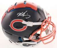 Mike Singletary Signed Bears Full-Size Authentic On-Field Hydro-Dipped F7 Helmet (Beckett COA) at PristineAuction.com