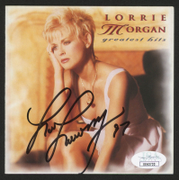 """Lorrie Morgan Signed """"Lorrie Morgan Greatest Hits"""" CD Album Cover (JSA COA) at PristineAuction.com"""