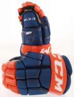 Lot of (2) Connor McDavid CCM Gloves With (1) Signed Glove (UDA COA) at PristineAuction.com